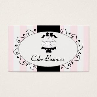 Pink Black Cake Bakery Business Cards
