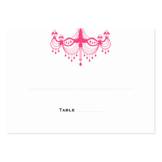 Pink & Black Chandelier Place Cards Business Card Templates