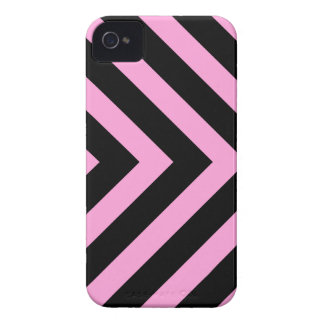 Pink black chevron pattern arrows BlackBerry case