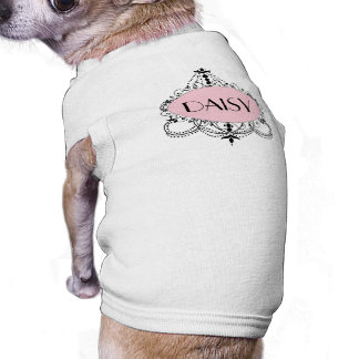 Pink Black Chic Chandelier Personalized Dog Shirt