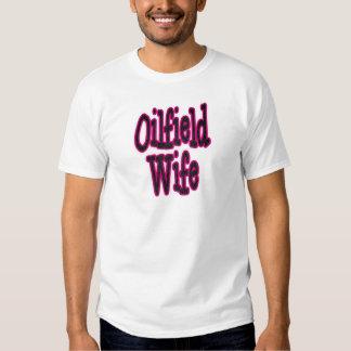 Pink/Black Damask Oilfield Wife Tshirts