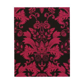Pink & Black Damask Pattern Print Design