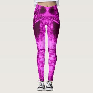 Pink black Dancing skeleton with tutu Leggings