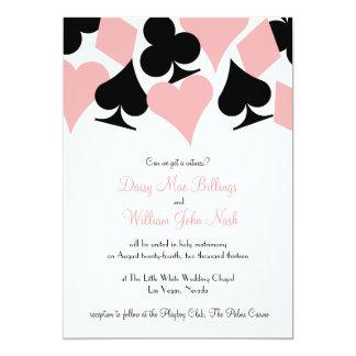 Pink & Black Destiny Las Vegas Wedding Invitation