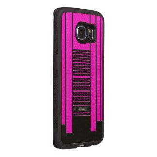 Pink Black Flowing Banner Wood Phone Case