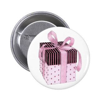Pink Black Gift Button