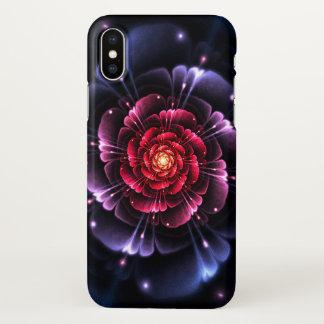 Pink Black Glitter Fractal Zazzle iPhone X Case