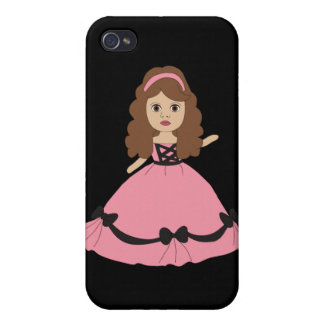 Pink & Black Gown Princess 1 iPhone 4 Cover