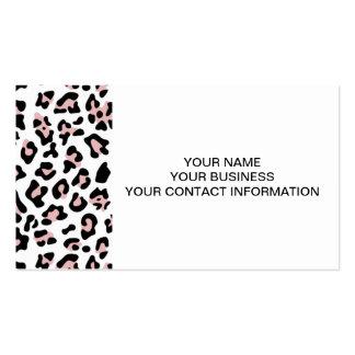 Pink Black Leopard Animal Print Pattern Pack Of Standard Business Cards