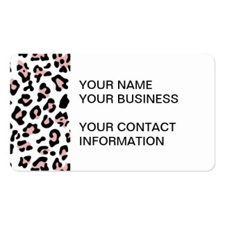 Pink Black Leopard Animal Print Pattern Business Card