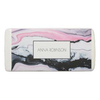 Pink & Black Marble Eraser
