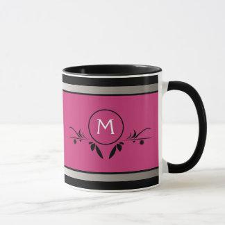 Pink & Black Monogram | Mug