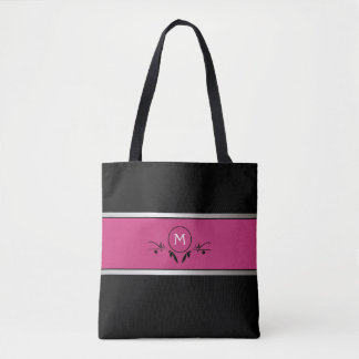 Pink & Black Monogram | Tote Bag