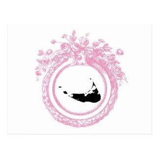 Pink & Black Nantucket Postcard