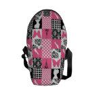 Pink & Black Patchwork Commuter Bag