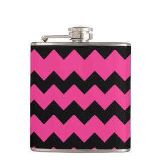 Pink & Black PatternVinyl Wrapped Flask