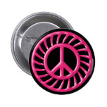 PINK & BLACK PEACE SIGN BUTTONS