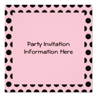Pink & Black Polka Dots Card