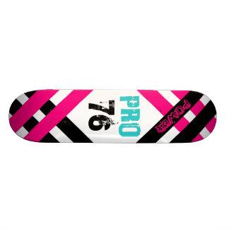 Pink & Black Pro Skateboard Deck