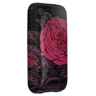 Pink Black Puzzle Rose Tough iPhone 3 Case