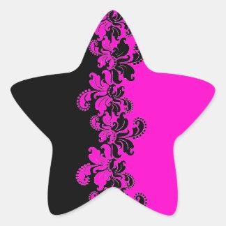 Pink black razberry lace line sticker