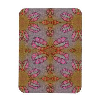Pink Black Sassy Lips Rectangular Photo Magnet