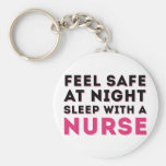 Pink Black Sassy Nurse Humor Key Chains