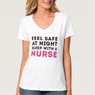 Pink Black Sassy Nurse Humor Shirts