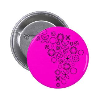 Pink black scribble doodles pin