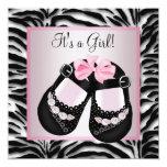 Pink Black Shoes Pink Zebra Baby Shower