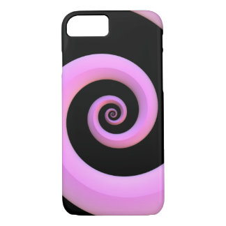 Pink/Black Spiral iPhone 8/7 Case