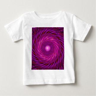 Pink Black Spiral Wave Kaleidoscope Art Baby T-Shirt