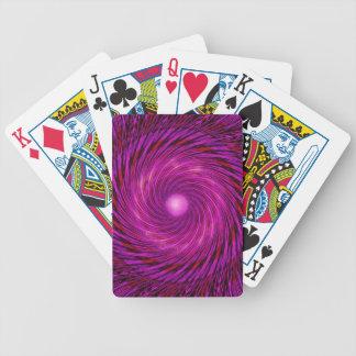 Pink Black Spiral Wave Kaleidoscope Art Bicycle Playing Cards