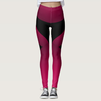 Pink Black Sporty Chic Slimming Sports Dance Leggings