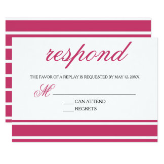 Pink & Black Trendy Typography Response Card