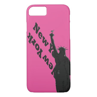 Pink Black USA NYC Statue of Liberty iPhone Case