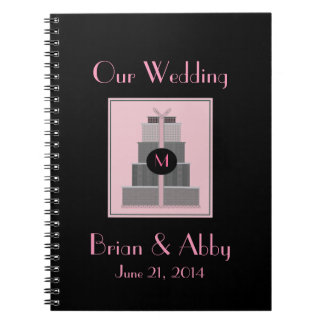 Pink & Black  Wedding Planner Spiral Note Book