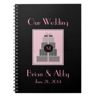 Pink & Black  Wedding Planner Spiral Note Book