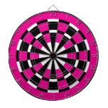 Pink Black & White Dartboard