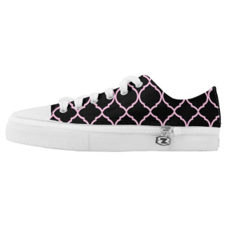 Pink, Black & White Moroccan Style Low Tops