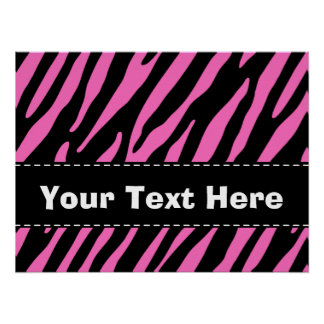 Pink & Black Zebra Stripes; Animal Print