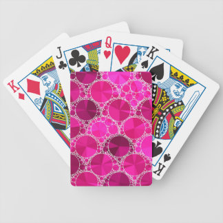 Pink Bling Bicycle Playing Cards