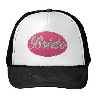 Pink Bling Bride Mesh Hat