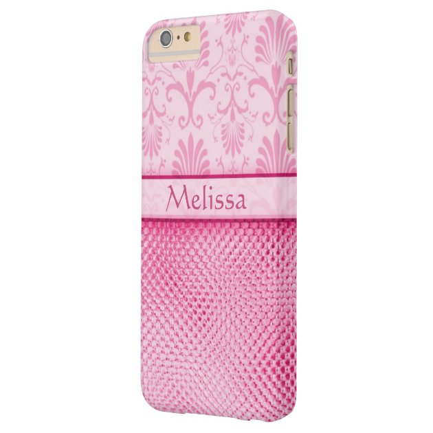 Case Design personalised bling phone cases : Pink Bling Effect Pattern Personalised Barely There iPhone 6 Plus Case ...