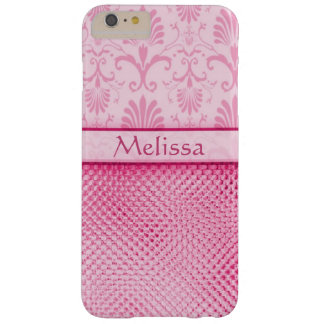 Pink Bling Effect Pattern Personalized Barely There iPhone 6 Plus Case