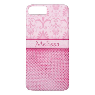 Pink Bling Effect Pattern Personalized iPhone 7 Plus Case