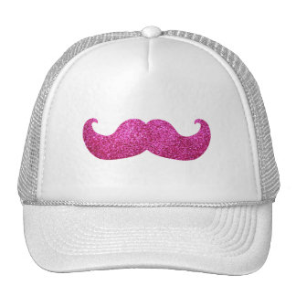 Pink Bling Mustache (Faux Glitter Graphic) Cap