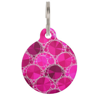 Pink Bling Pet Tags