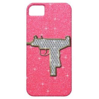 Pink Bling Uzi Gun iPhone 5 Case