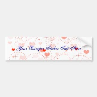 Pink Bliss Valentine s Day Bumper Sticker